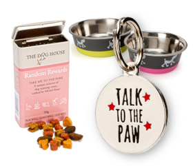 Visit our shop for treats, bowls and dog tags