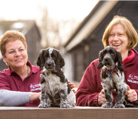Volunteer for hearing dogs
