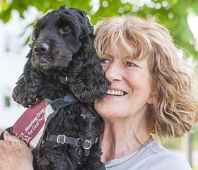 geraldine and hearing dog bella