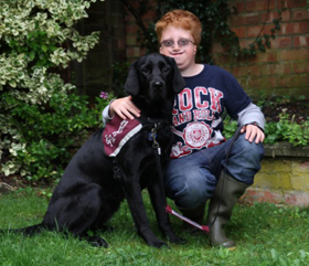 Max and hearing dog Chloe