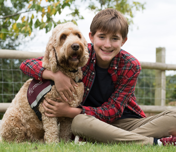 William and his life-changing hearing dog Nutmeg