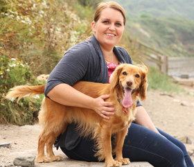 hearing dog helping deaf person