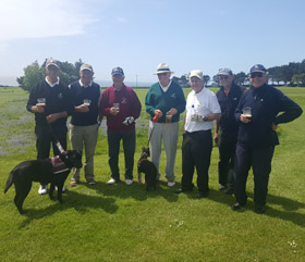 Golfers and their Hearing Dogs