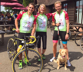 hearing dogs cycle sportive racers