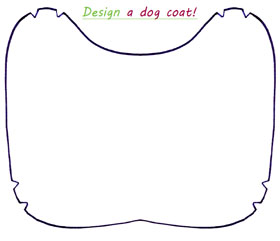 design a dog coat template