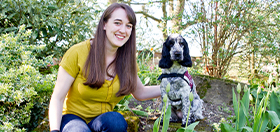 Clare and her hearing dog Molly