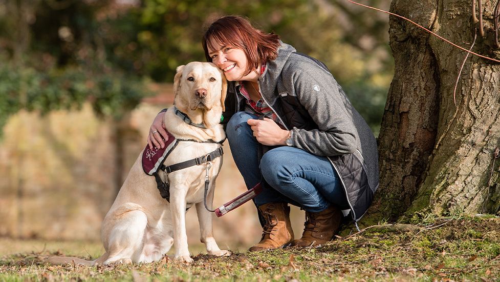 Clare and hearing dog Teddington