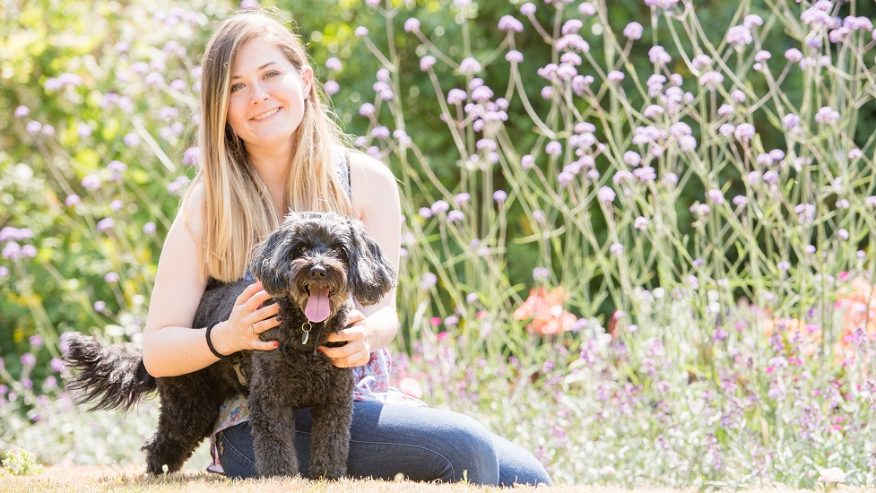 Poppy Nicholson and hearing dog Maddy