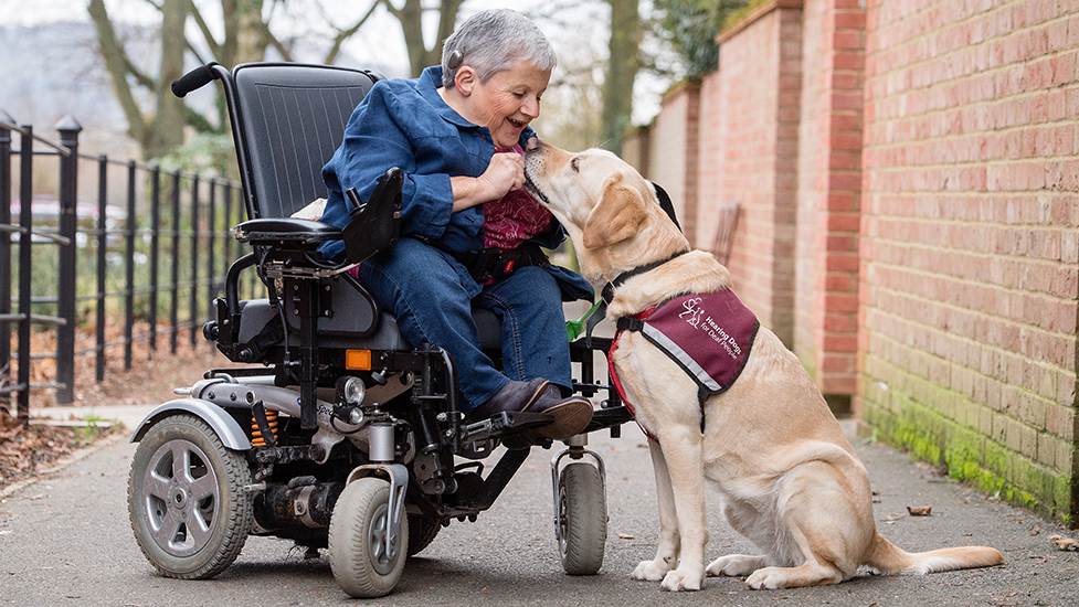 Sally Harris and hearing dog Babs