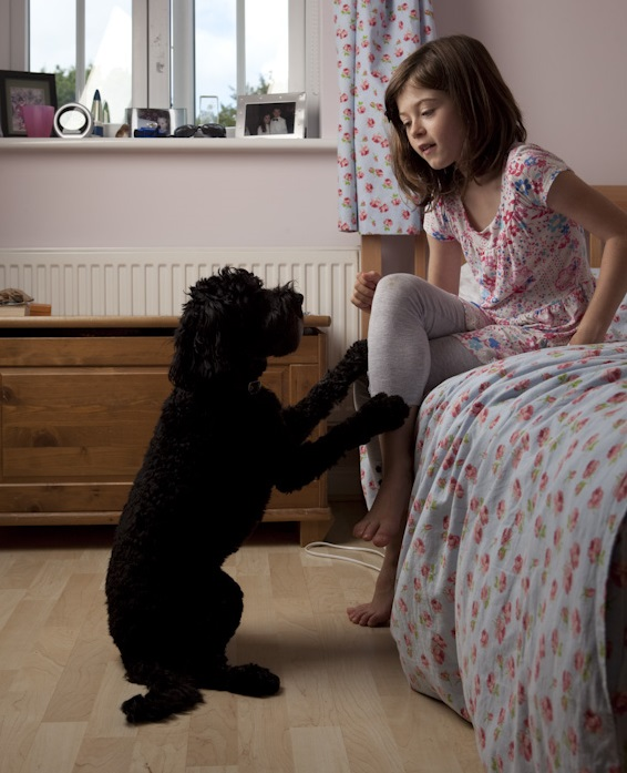 Poppy aged nine with Maddy