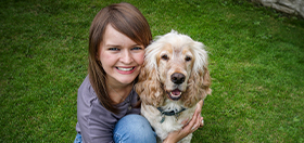 Sarah and hearing dog Albert