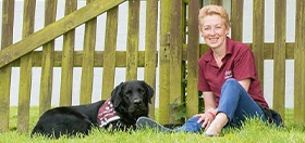 Sue and hearing dog Ethan