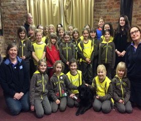Brownie group and Hearing Dog