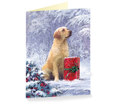 goldie and present christmas cards