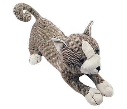 Herringbone Cat Doorstop