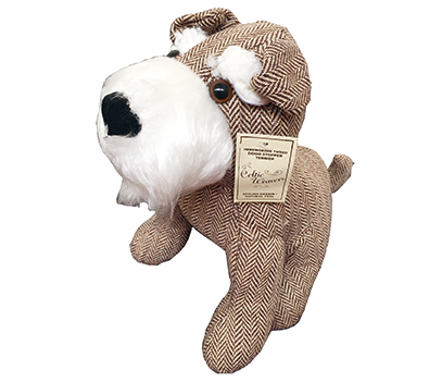 Herringbone Terrier Doorstop