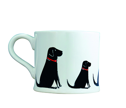Mischievous Mutts Black Lab Mug