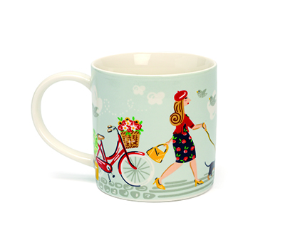 Walkies Straight Sided China Mug