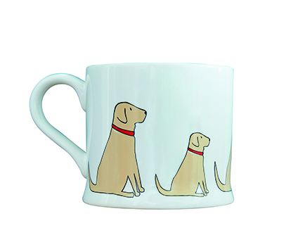 Mischievous Mutts Yellow Lab Mug