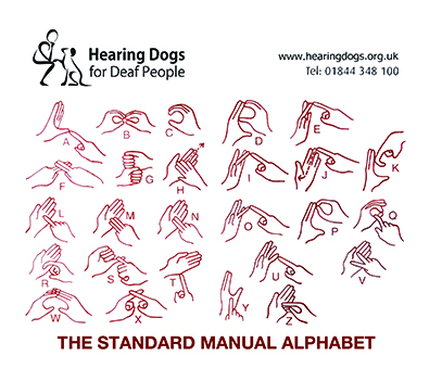 BSL Fingerspelling Tea Towel