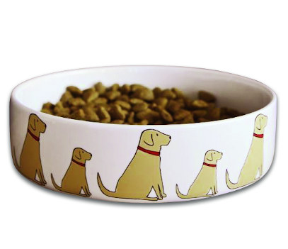 Yellow Labrador Large Dog Bowl
