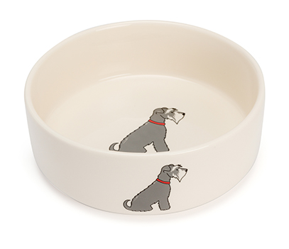 Schnauzer Small Dog Bowl