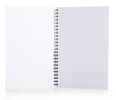 blank white interior pages of the notepad
