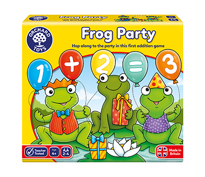 Counting game using frogs