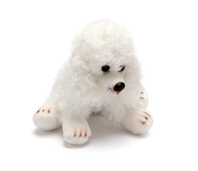 Small White Poodle Soft Toy