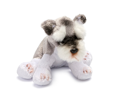 Small Grey and White Schnauzer Soft Toy