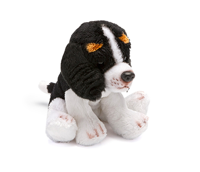 Small Black and White Spaniel Soft Toy