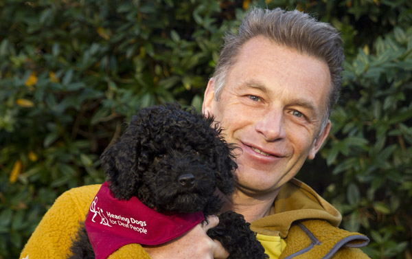 Chris Packham with Rascal